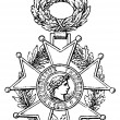 "National Order of the Legion of Honour (France, 1802). Publication of the book ""Meyers Konversations-Lexik on"", Volume 7, Leipzig, Germany, 1910 - Stock Vector"