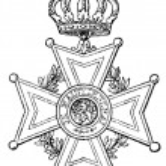 "Order of Orange-Nassau (Netherlands, 1892). Publication of the book ""Meyers Konversations-Lexik on"", Volume 7, Leipzig, Germany, 1910 — Stock Vector"