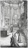 Old engravings. Shows the First Vatican Council — Stock Vector