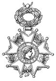 """National Order of the Legion of Honour (France, 1802). Publication of the book """"Meyers Konversations-Lexik on"""", Volume 7, Leipzig, Germany, 1910 — Stock Vector"""