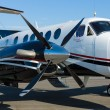 Twin-turboprop aircraft Beechcraft King Air, Model B250 - Stock Photo