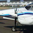 "Aircraft Diamond DA42-VI Twin Star, International Aerospace Exhibition ""ILA Berlin Air Show"", — Stock Photo"