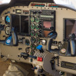 The dashboard light civil aircraft Piper PA-34-220T Seneca V - Stock Photo