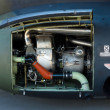 Stock Photo: Details of engine helicopter Westland Mk 88 SeLynx,