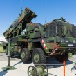 The MIM-104 Patriot is a surface-to-air missile (SAM) system (German Air Force) — Stok fotoğraf