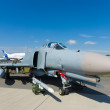 The McDonnell Douglas F-4 Phantom II is a long-range supersonic jet interceptor fighter - Stock Photo