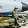 The pilot sits on a laser-guided bomb GBU-24 Paveway III, — Stock Photo #13492364