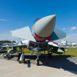The Eurofighter Typhoon is a twin-engine, canard-delta wing, multirole fighter — Stock Photo
