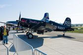 Carrier-based aircraft Chance Vought F4U Corsair — Stock Photo