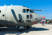 The Alenia C-27J Spartan is a medium-sized military transport aircraft — Stock Photo