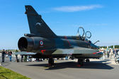 Dassault Mirage 2000N strike fighter-bomber carrying nuclear weapons (rear view — Stock Photo