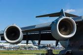 Engines Boeing C-17 Globemaster — Stock Photo