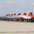 "Stock Photo: BERLIN - SEPTEMBER 14: light supersonic fighter Northrop F-5Freedom Fighter (Turkish Air Force), International Aerospace Exhibition ""ILBerlin Air Show"""