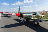 "BERLIN - SEPTEMBER 14: Trainer aircraft Aermacchi SF.260, International Aerospace Exhibition ""ILA Berlin Air Show"", September 14, 2012 in Berlin, Germany — Стоковое фото"