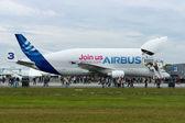 "BERLIN - SEPTEMBER 14: Airbus A300-600ST (Super Transporter) or Beluga, International Aerospace Exhibition ""ILA Berlin Air Show"", September 14, 2012 in Berlin — Stock Photo"