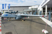 "BERLIN - SEPTEMBER 14: UAV IAI Heron (Machatz-1), International Aerospace Exhibition ""ILA Berlin Air Show"", September 14, 2012 in Berlin, Germany — Stock Photo"