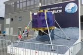 "BERLIN - SEPTEMBER 14: Model space satellite to space pavilion, International Aerospace Exhibition ""ILA Berlin Air Show"", September 14, 2012 in Berlin, Germany — Stock Photo"