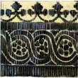 "Stock Photo: Coptic pattern on fabric. Publication of book ""Meyers Konversations-Lexikon"", Volume 7, Berlin, Germany, 1910"