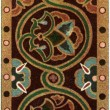"Byzantine pattern on Damascus silk (11th century). Publication of the book ""Meyers Konversations-Lexikon"", Volume 7, Berlin, Germany, 1910 — Stock Photo"