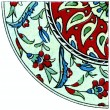 "Ornament. Turkish earthenware (17-18 century). Publication of the book ""Meyers Konversations-Lexikon"", Volume 7, Berlin, Germany, 1910 — Stock Photo"