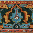 "Border Persian carpet, (16-17 century). Publication of the book ""Meyers Konversations-Lexikon"", Volume 7, Berlin, Germany, 1910 — Lizenzfreies Foto"