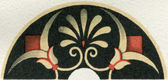 "Etruscan Antefix, the upper part. Publication of the book ""Meyers Konversations-Lexikon"", Volume 7, Berlin, Germany, 1910 — Stock Photo"