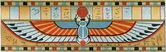 "Ancient Egyptian Ornament sarcophagus. Publication of the book ""Meyers Konversations-Lexikon"", Volume 7, Berlin, Germany, 1910 — Stock Photo"