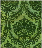 "Venetian pattern on Damascus silk (15th century). Publication of the book ""Meyers Konversations-Lexikon"", Volume 7, Berlin, Germany, 1910 — Stock Photo"