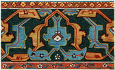 "Border Persian carpet, (16-17 century). Publication of the book ""Meyers Konversations-Lexikon"", Volume 7, Berlin, Germany, 1910 — Stock Photo"