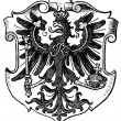"Coat of Arms East Prussia, (Province of Kingdom of Prussia). Publication of the book ""Meyers Konversations-Lexikon"", Volume 7, Leipzig, Germany, 1910 — Stock Vector"