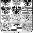 "Coats of Arms of Kingdom of Prussia. Publication of book ""Meyers Konversations-Lexikon"", Volume 7, Leipzig, Germany, 1910 — Stock Vector #13703788"