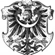 "Coat of Arms Silesia, (Province of Kingdom of Prussia). Publication of the book ""Meyers Konversations-Lexikon"", Volume 7, Leipzig, Germany, 1910 — Stock Vector"