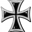 "A cross of the Teutonic Order. The Roman Catholic Church. Publication of the book ""Meyers Konversations-Lexikon"", Volume 7, Leipzig, Germany, 1910 — Stock Vector"