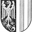 "Stock Vector: Coat of arms of state of Upper Austri(Austro-HungariMonarchy). Publication of book ""Meyers Konversations-Lexikon"", Volume 7, Leipzig, Germany, 1910"