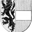 "Stock Vector: Coat of arms of Salzburg state, (Austro-HungariMonarchy). Publication of book ""Meyers Konversations-Lexikon"", Volume 7, Leipzig, Germany, 1910"