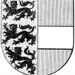 "Stock Vector: Coat of arms of state of Carinthia, (Austro-HungariMonarchy). Publication of book ""Meyers Konversations-Lexikon"", Volume 7, Leipzig, Germany, 1910"