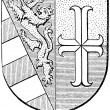 "Stock Vector: Coat of arms of Goriziand Gradisca, (Austro-HungariMonarchy). Publication of book ""Meyers Konversations-Lexikon"", Volume 7, Leipzig, Germany, 1910"