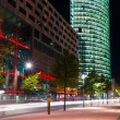 Boulevard stars Postadmer Platz to night lighting — Stock Photo