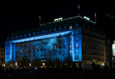 The five-star Hotel Adlon in night illumination — Stock Photo