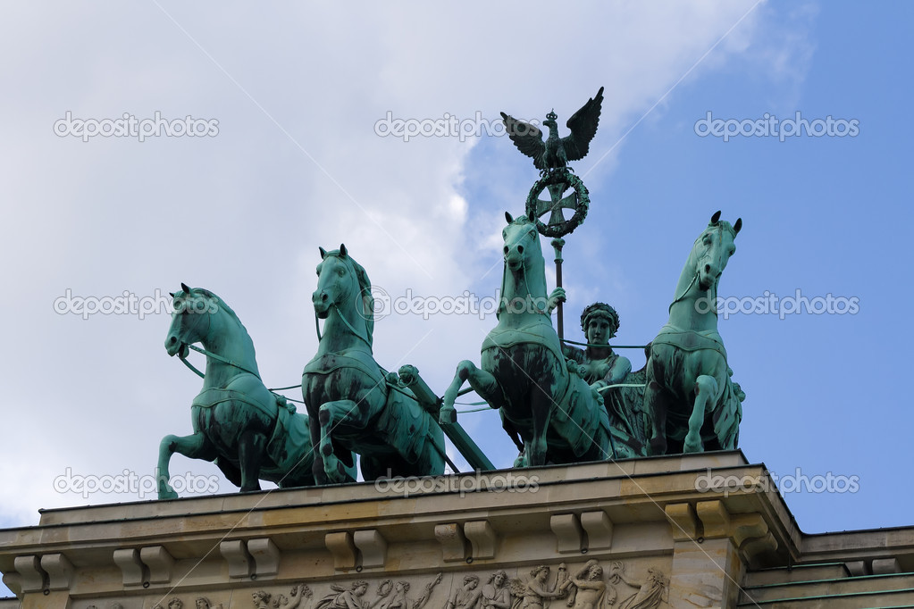 Quadriga Brandenburg Gate. — Stock Photo #14525145