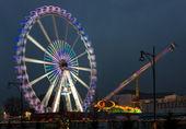Ferris wheel. Christmas market at Alexanderplatz — Stock Photo