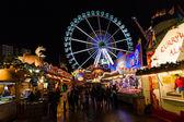 Christmas Market at Alexanderplatz — Stock Photo