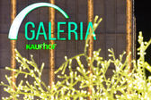 Galeria Kaufhof at Alexanderplatz in the Christmas illuminations — Stock Photo