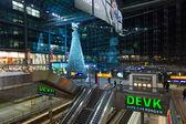Christmas tree at the central railway station (Hauptbahnhof) — Stock Photo
