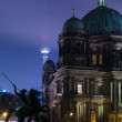 Berlin Cathedral (Berliner Dom) in the night illumination — Foto Stock