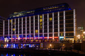 The Radisson Blu Hotel in the Christmas illuminations — Stock Photo
