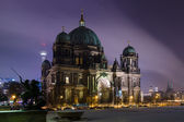 Berlin Cathedral (Berliner Dom) in the night illumination — Stock Photo