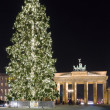 Brandenburg Gate and the Christmas tree. - Stock Photo