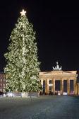 Brandenburg Gate and the Christmas tree. — Stock Photo