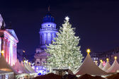 Christmas market at Gendarmenmarkt. — Stock Photo